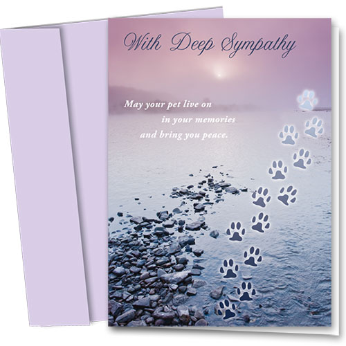 Dog Sympathy Cards - Memory River