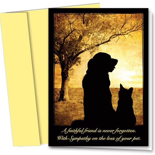 Pet Sympathy Cards - Field of Memories