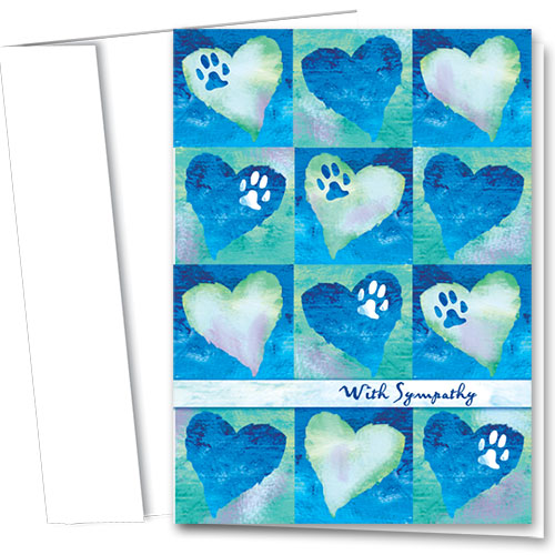 Pet Sympathy Cards - Painted Blue