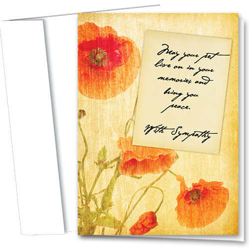 Pet Sympathy Cards - Poppy Sympathy