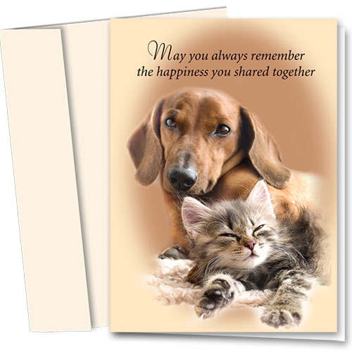 Pet Sympathy Cards - Happiness Shared