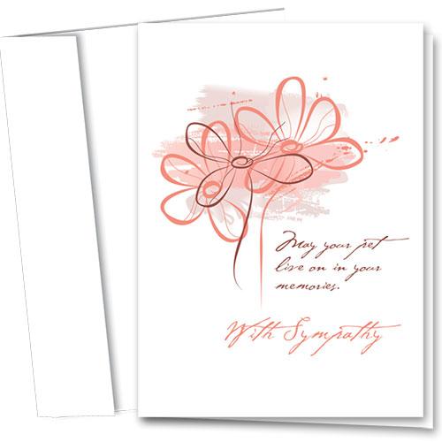 Pet Sympathy Cards - Coral Impression