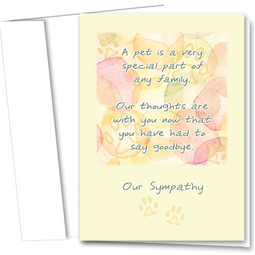 Pet Sympathy Cards - Part of the Family