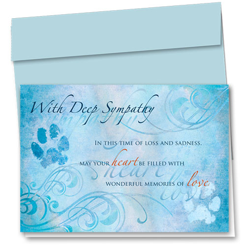 Pet Sympathy Cards - Time of Loss
