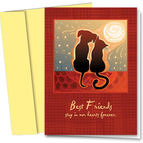 Pet Sympathy Cards - Sunset Friends