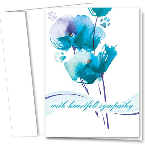 Pet Sympathy Cards - Heartfelt Bouquet