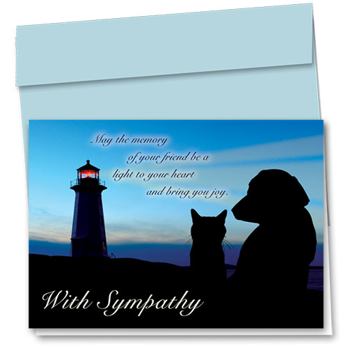 Pet Sympathy Cards - Light to Your Heart