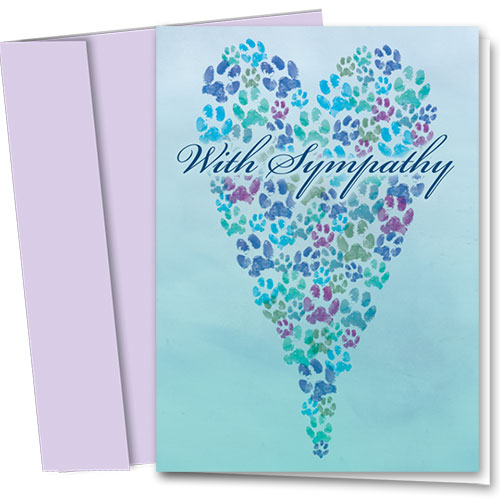 Pet Sympathy Cards - Painted Prints