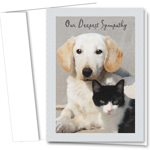 Pet Sympathy Cards - Serene Setting