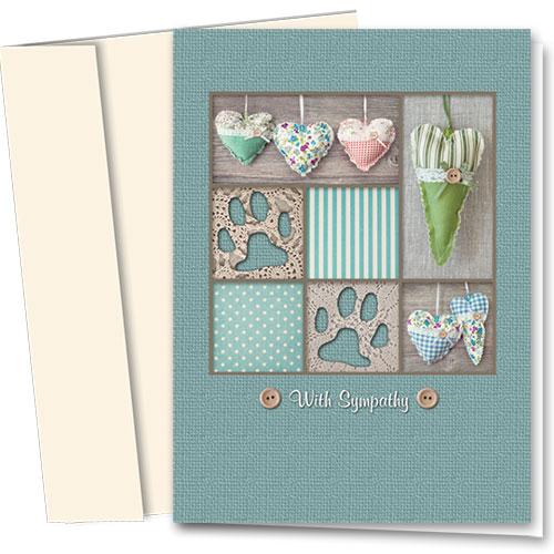 Pet Sympathy Cards - Handmade Hearts