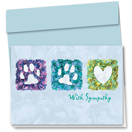 Pet Sympathy Cards - Petals Of Love