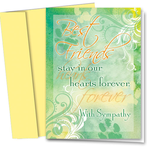 Pet Sympathy Cards - Layers of Green