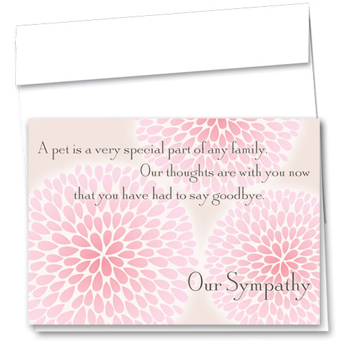 Pet Sympathy Cards - Goodbye Blossoms