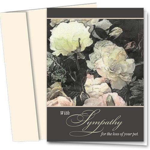 Pet Sympathy Cards - Pastel Roses