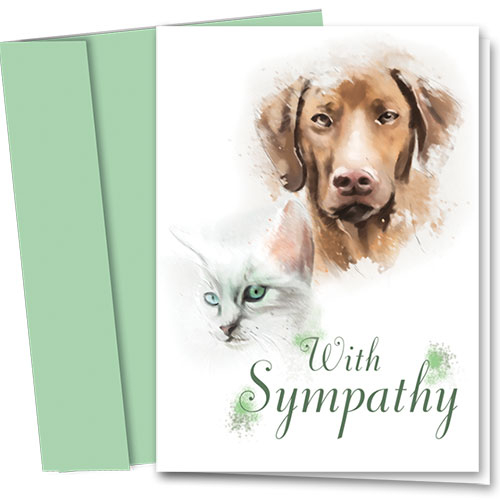 Pet Sympathy Cards - Painted Portrait
