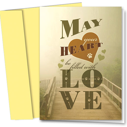 Pet Sympathy Cards - Filled with Love