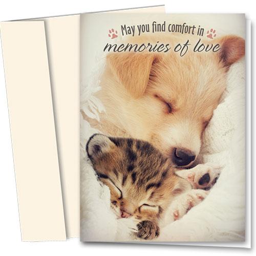 Pet Sympathy Cards - Comforting Memory