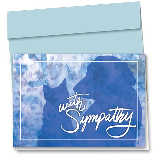 Pet Sympathy Cards - Blue Pets