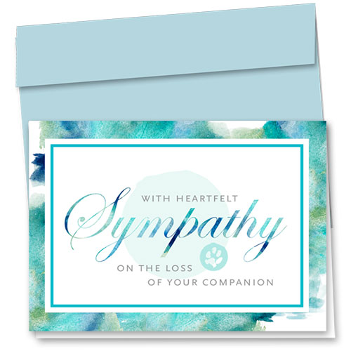 Pet Sympathy Cards - Sea Sympathy