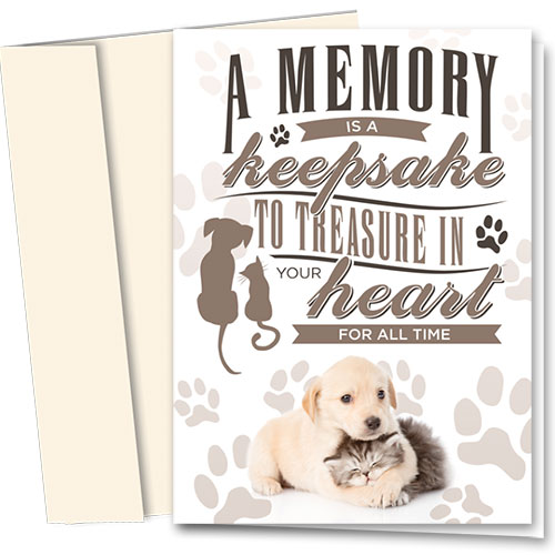 Pet Sympathy Cards - Treasure