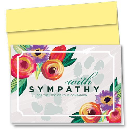 Pet Sympathy Cards - Modern Floral