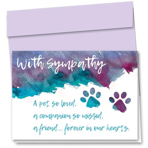 Pet Sympathy Cards - Soft Words