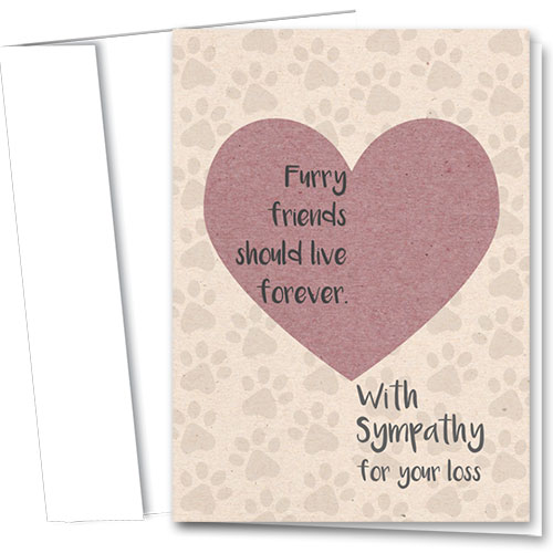 Pet Sympathy Cards - Live Forever