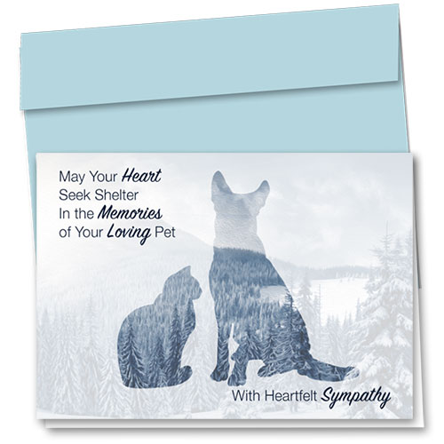 Pet Sympathy Cards - Heart Shelter