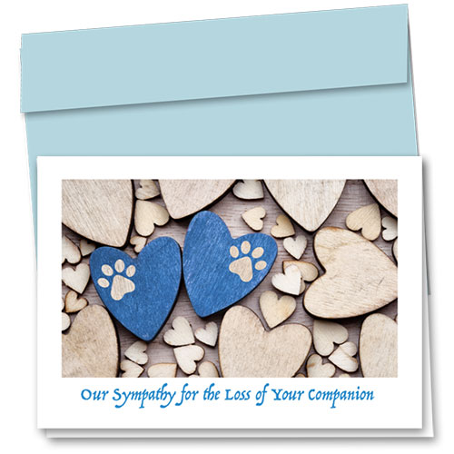 Pet Sympathy Cards - Blue Pair