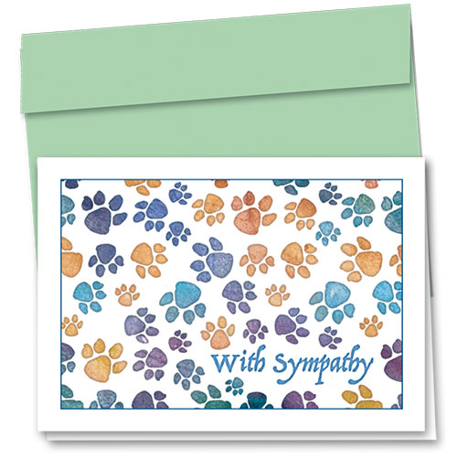 Pet Sympathy Cards - Soft Paws