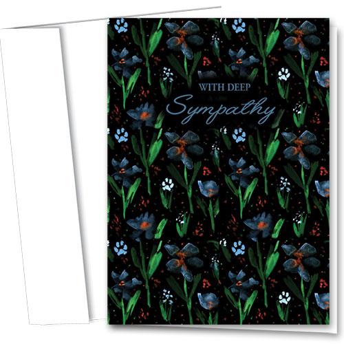 Pet Sympathy Cards - Dark Floral