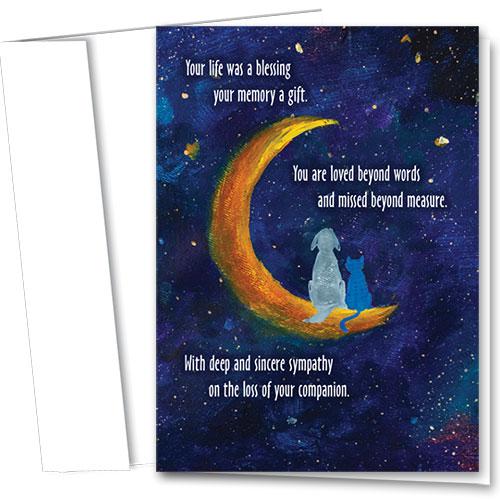 Pet Sympathy Cards - Crescent Moon