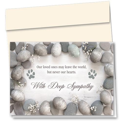 Pet Sympathy Cards - Memory Stones
