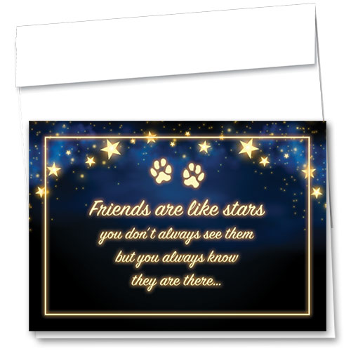 Pet Sympathy Cards - Starlit Message