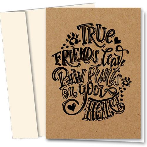 Pet Sympathy Cards - True Friends
