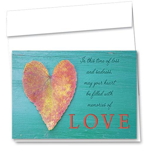 Pet Sympathy Cards - Love Leaf