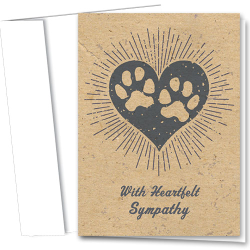 Pet Sympathy Cards - Glowing Heart