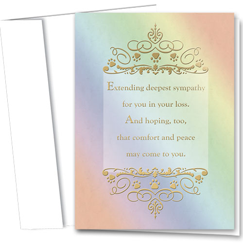 Premium Foil Pet Sympathy Cards - Deepest Sympathy
