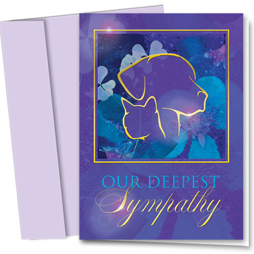 Premium Foil Pet Sympathy Cards - Purple Profile