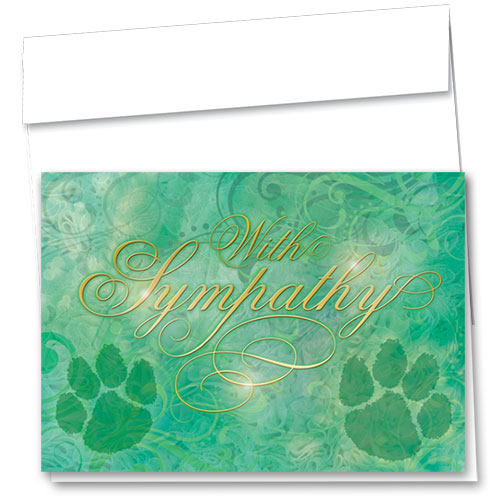Premium Foil Pet Sympathy Cards - Swirls of Sympathy