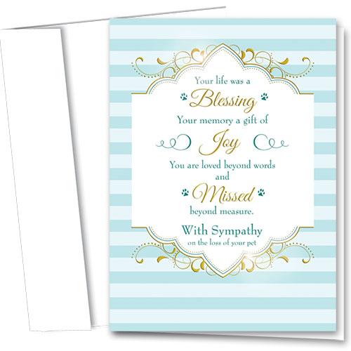 Premium Foil Pet Sympathy Cards - Loved Beyond Words