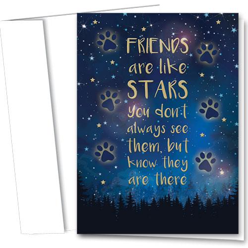 Premium Foil Pet Sympathy Cards - Always There