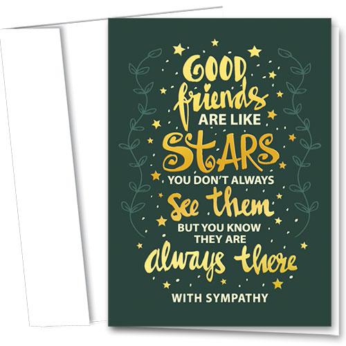 Premium Foil Pet Sympathy Cards - Gold Stars