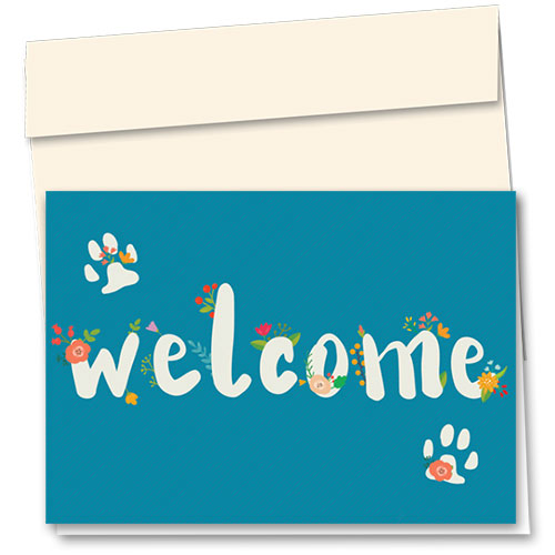 Veterinary Welcome Cards - Flowering Welcome