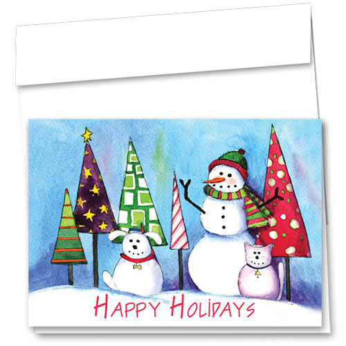 Veterinary Holiday Cards - Frosty Friends