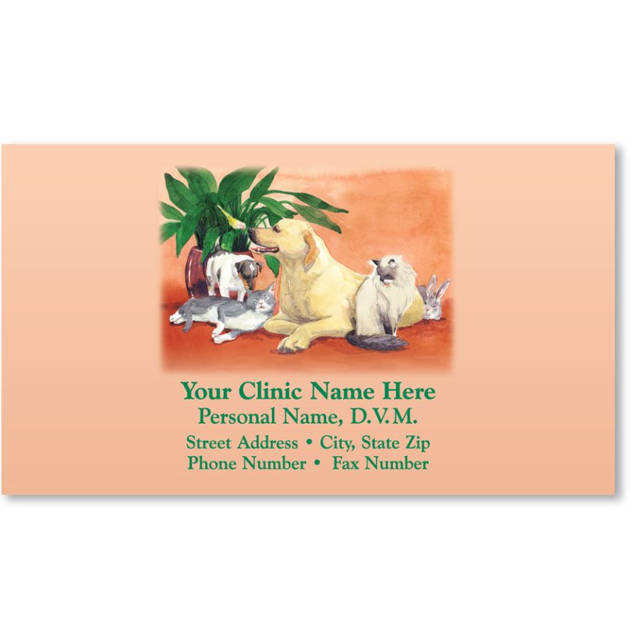 Veterinary Business Cards - Happy Family