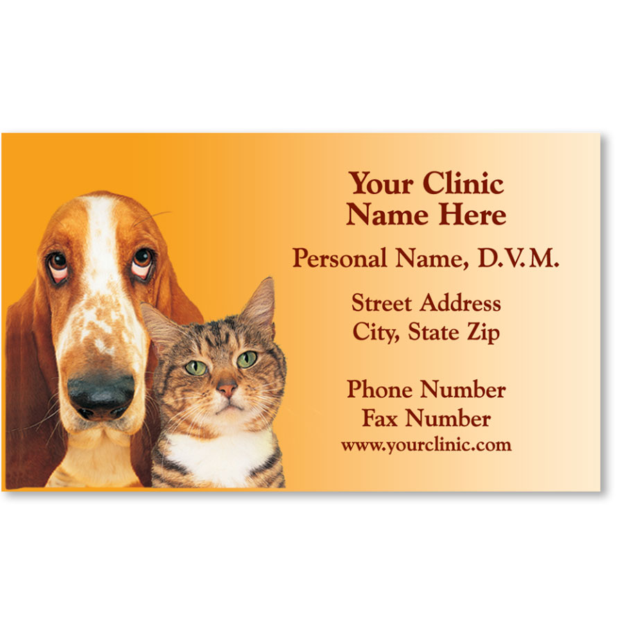 Veterinary Business Cards - Two Friends