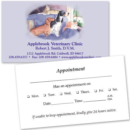 Veterinary Business Cards w/ Appointment - Front Window