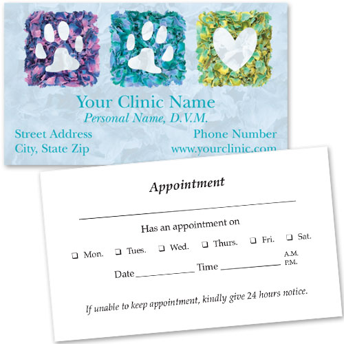 Veterinary Business Cards w/ Appointment - Petals of Love