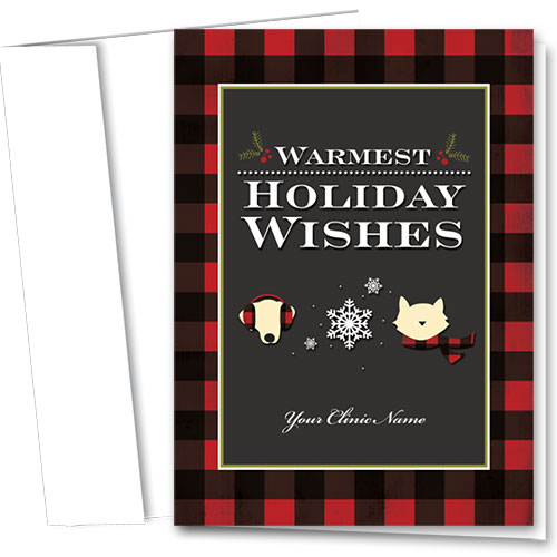 Veterinary Holiday Cards - Winter Flannel